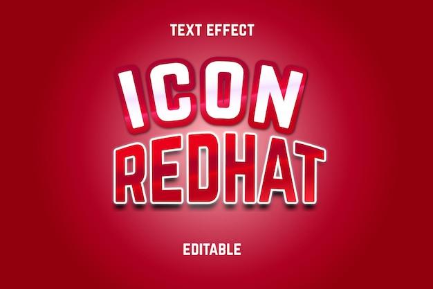 Effet de texte modifiable de chapeau rouge