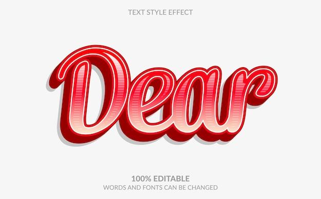 Effet de texte modifiable, cher style de texte