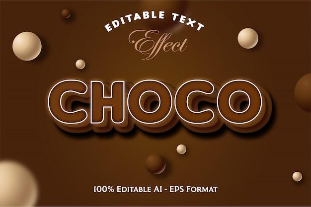 Effet de texte modifiable choco