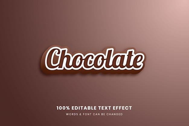Effet de texte modifiable en chocolat 3d