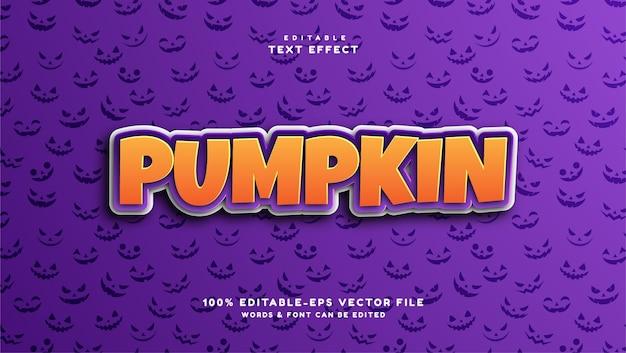 Effet de texte modifiable citrouille style de texte halloween