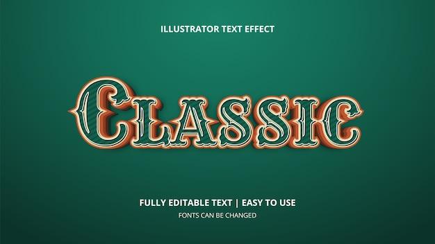 Effet de texte modifiable classique