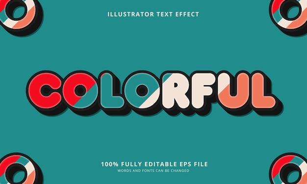 Effet de texte modifiable coloré
