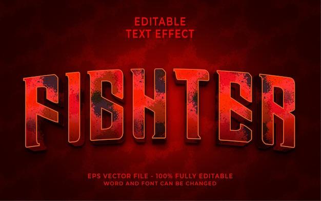 Effet de texte modifiable de combattant