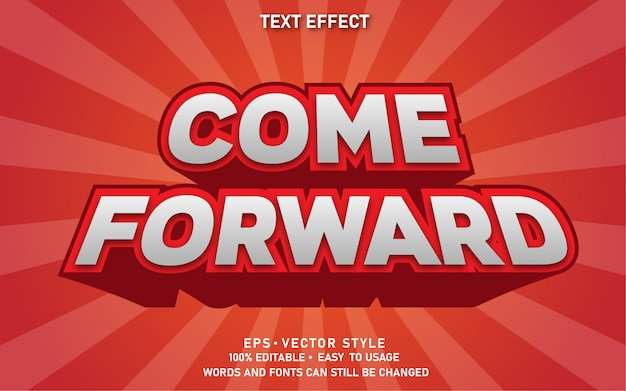 Effet de texte modifiable come forward