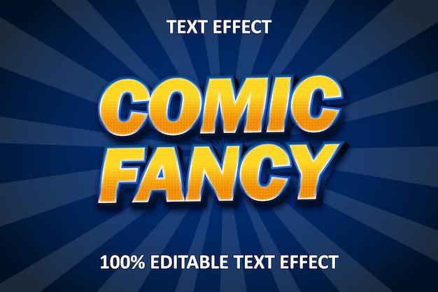 Effet de texte modifiable comique bleu orange