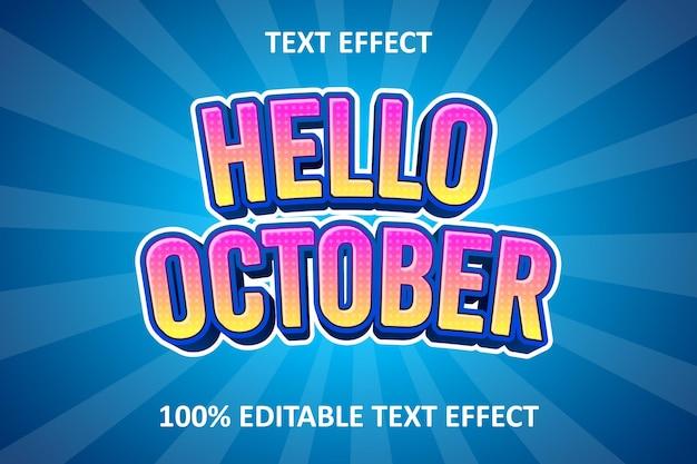 Effet de texte modifiable comique jaune rose bleu