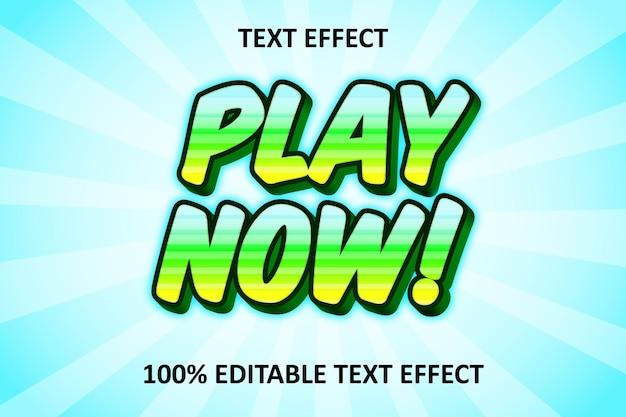 Effet de texte modifiable comique vert cyan