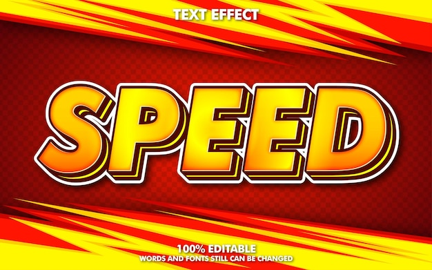 Effet de texte modifiable de concept de course