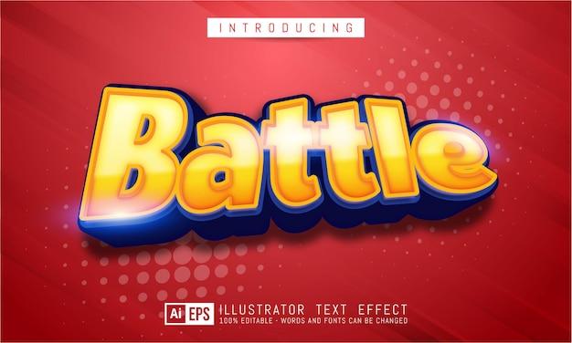 Effet De Texte Modifiable - Concept De Style De Texte De Combat Vecteur Premium