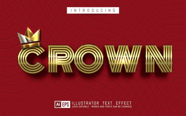 Effet de texte modifiable concept de style de texte de la couronne