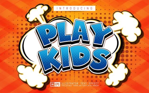 Effet de texte modifiable concept de style de texte effet comique play kids