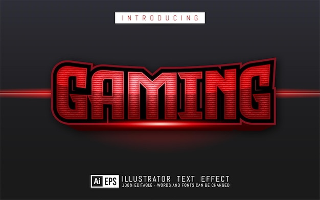 Effet de texte modifiable concept de style de texte de jeu
