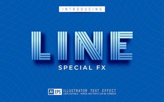 Effet de texte modifiable concept de style de texte de ligne