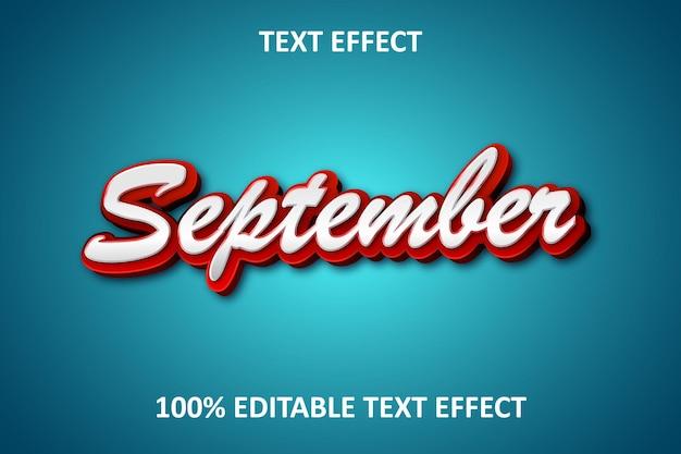 Effet de texte modifiable de conception simple rouge bleu clair