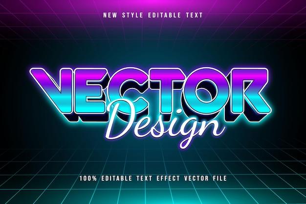 Effet de texte modifiable de conception de vecteur