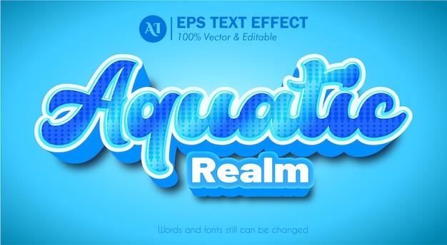 Effet de texte modifiable contextuel 3d aquatic realm