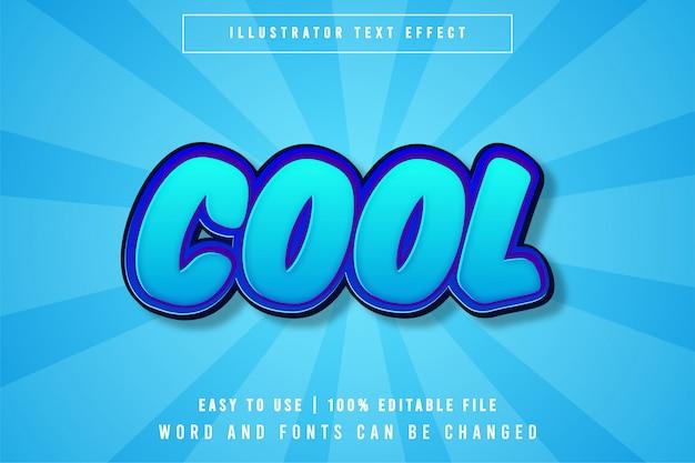 Effet de texte modifiable cool, style dessin animé