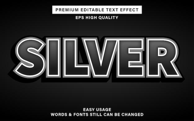 Effet de texte modifiable couleur argent