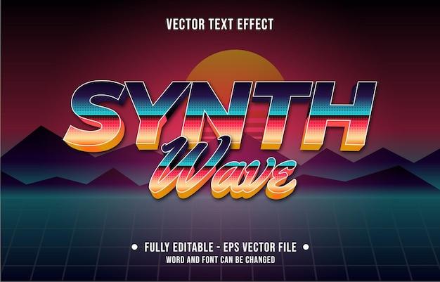 Effet de texte modifiable couleur dégradé style rétro futuriste des années quatre-vingt