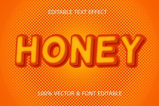 Effet de texte modifiable de couleur miel jaune orange