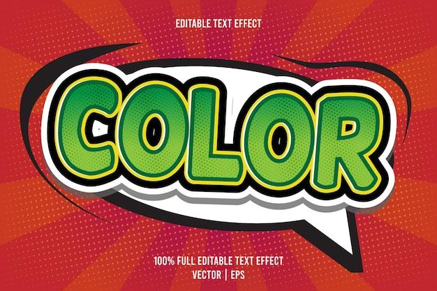 Effet de texte modifiable en couleur