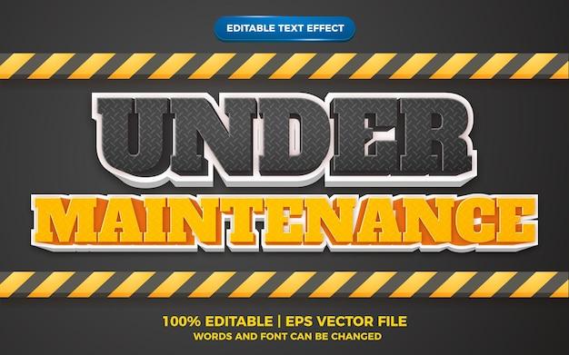 Effet de texte modifiable - en cours de maintenance style de modèle 3d