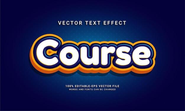 Effet de texte modifiable de cours