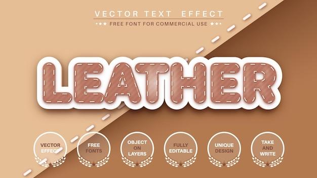 Effet de texte modifiable en cuir
