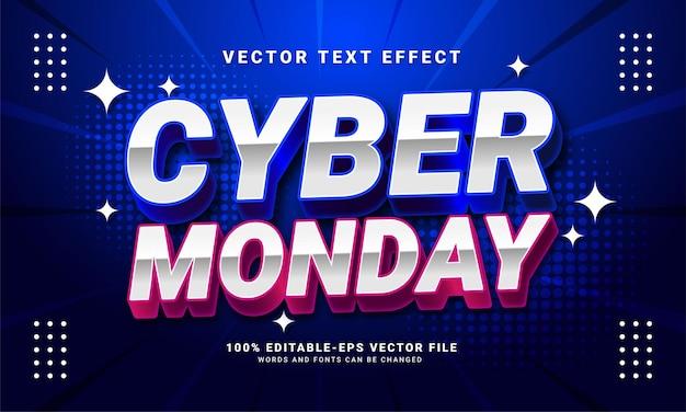 Effet de texte modifiable cyber monday light adapté aux événements sur le thème du cyber monday.