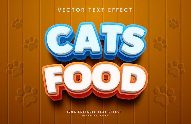 Effet de texte modifiable dans pet foods style