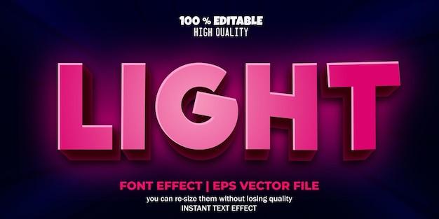 Effet de texte modifiable dans le style d'éclairage