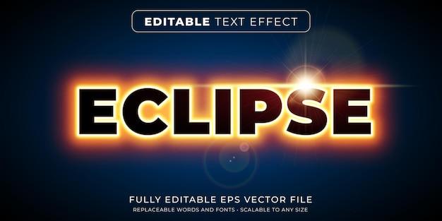 Effet de texte modifiable dans le style d'éclipse de néon lumineux