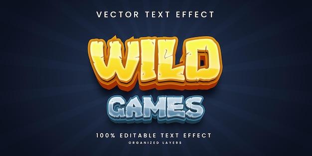 Effet de texte modifiable dans le style de jeux sauvages