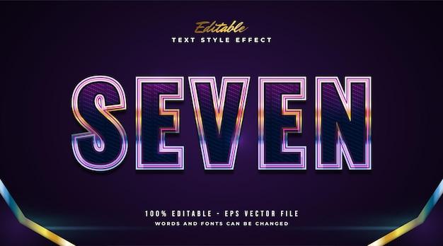 Effet de texte modifiable dans un style néon coloré avec un concept moderne et futuriste