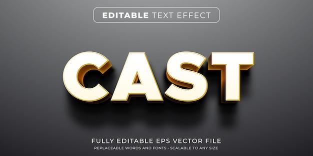 Effet de texte modifiable dans un style de projection d'ombre intense