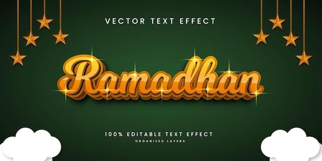 Effet de texte modifiable dans le style ramadhan