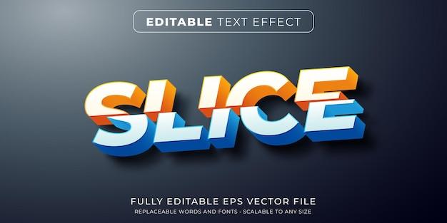 Effet de texte modifiable dans le style de texte coupé en tranches