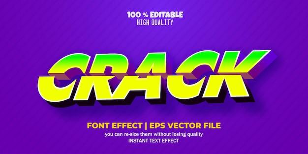 Effet de texte modifiable dans le texte de crack