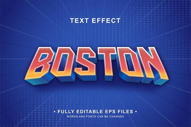 Effet de texte modifiable en dégradé de casquette de boston