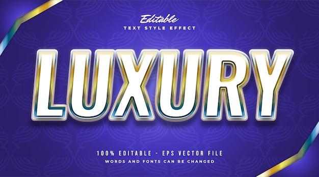 Effet de texte modifiable en dégradé coloré avec concept de luxe