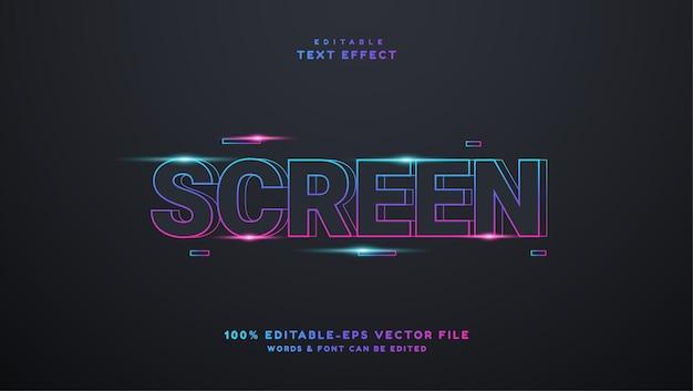 Effet de texte modifiable en dégradé d'écran