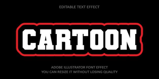Effet de texte modifiable de dessin animé