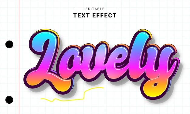 Effet de texte modifiable dessiné à la main pour illustrateur