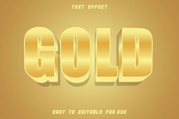 Effet de texte modifiable doré gaufrer style doré