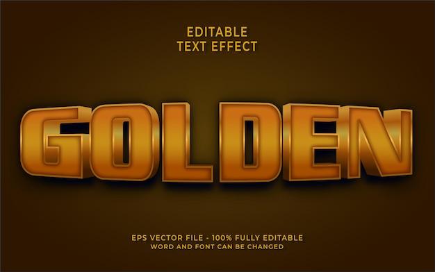 Effet de texte modifiable doré