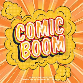 Effet de texte modifiable du boom de la bande dessinée