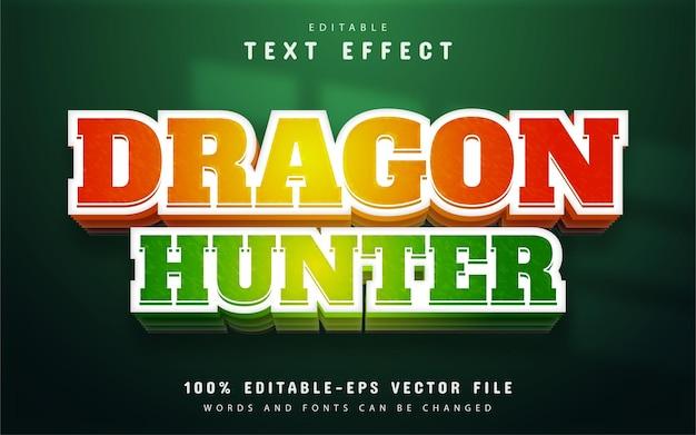 Effet de texte modifiable du chasseur de dragon