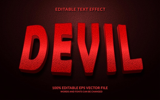 Effet de texte modifiable du diable