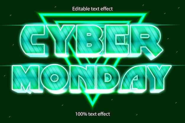Effet de texte modifiable du lundi rétro avec un style moderne